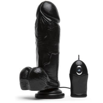 Extra Thick Suction Cup Dildo Vibrator 7.5 Inch
